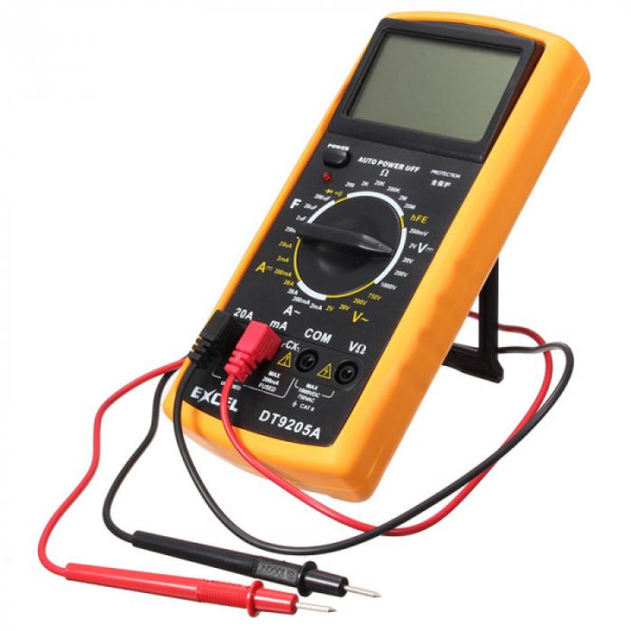 Multimetru digital DT9205A, carcasa antisoc [0]