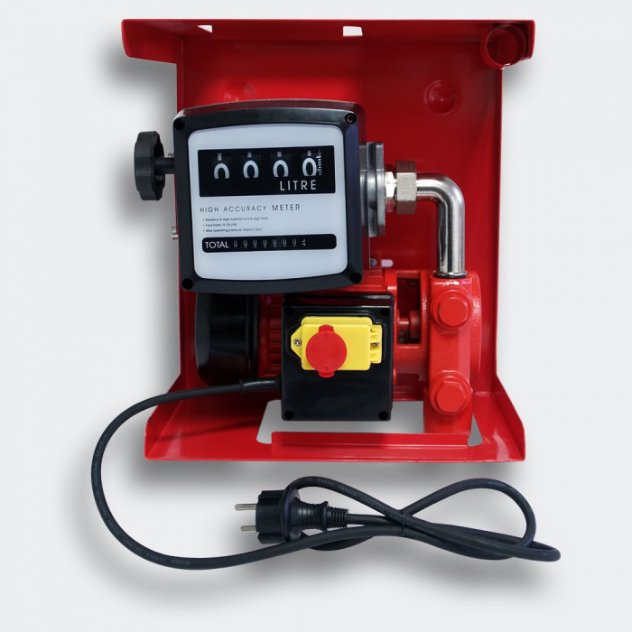 Pompa electrica de transfer combustibil cu contor si furtun, kit complet alimentare 12V [2]