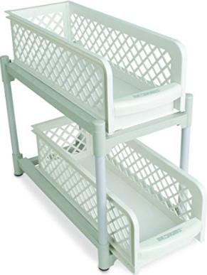 Organizator pentru bucatarie sau baie cu 2 rafturi portabile glisante [2]