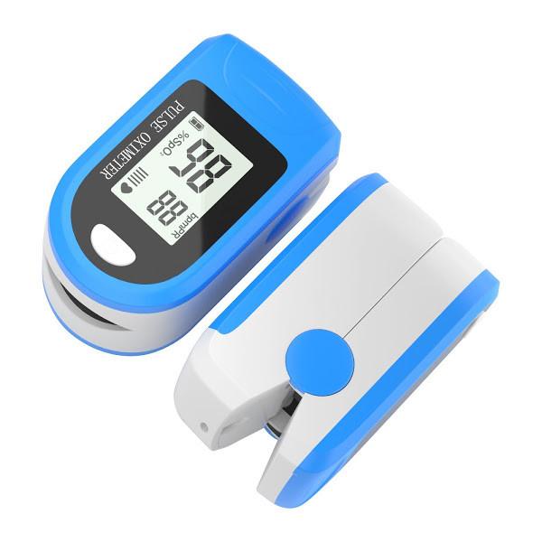 Pulsoximetru digital pentru deget, Albastru/Alb [0]