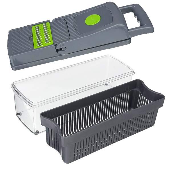 Razatoare Multifunctionala, 14 piese, lame inox si maner protectie, gri/verde, 35 x 11 x 14 cm [0]