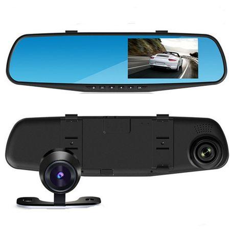 Oglinda retrovizoare cu camera dubla fata-spate si ecran 4 inch [1]