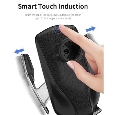 Incarcator Wireless Auto universal, cu Senzor inteligent, suport SMART Fast Charger 10W, clema prindere ventilatie [6]