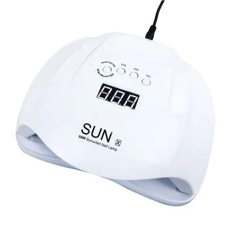 Lampa UV/LED pentru manichiura, SUN X, 54 W, Alb [1]