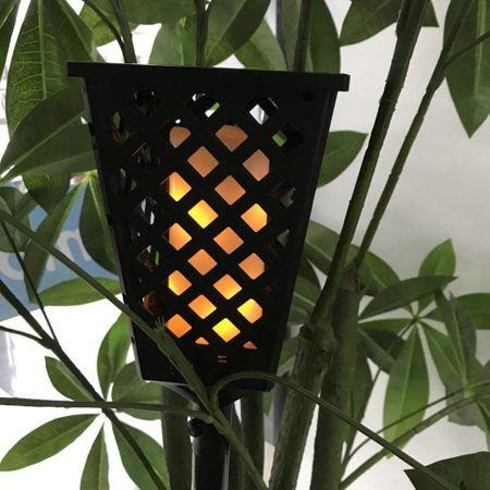 Lampa solara neagra Tiki Light cu efect flacara [1]