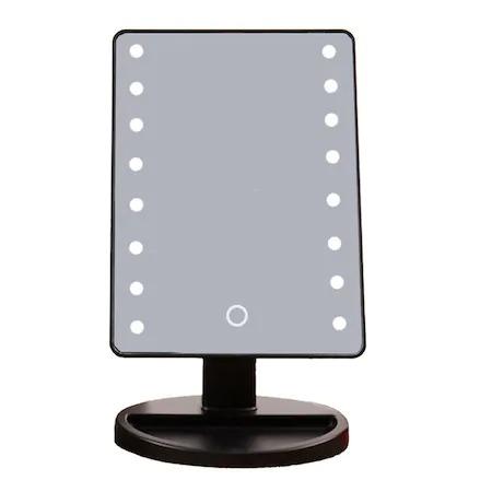 Oglinda cu led pentru machiaj, Barste, functie touchscreen Alb [2]