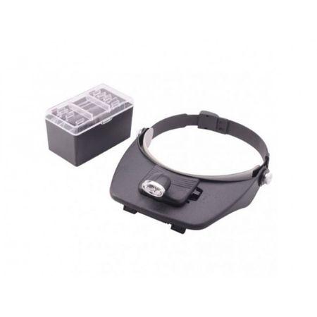Cozoroc cu lupa si lanterna - Light Head Magnifying Glass [1]