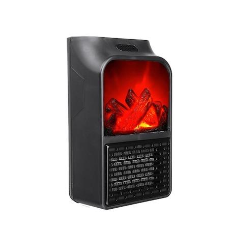 Mini radiator de priza cu telecomanda, Quick & Easy Heat , putere 500 W , ventilator integrat ,Premium Quality , negru [0]