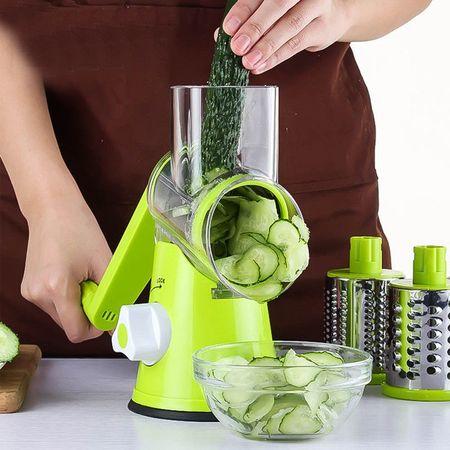Razatoare manuala Verde pentru fructe si legume cu 3 lame interschimbabile [1]