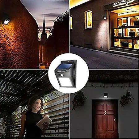 Set format din 6 lampi solare de perete cu senzor de miscare si lumina cu 30 leduri [1]