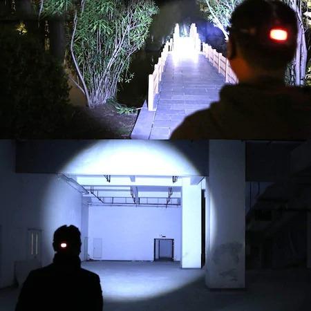 Lanterna de Cap cu 5 LED-uri , 30W , 8000 Lumeni Acumulator [2]