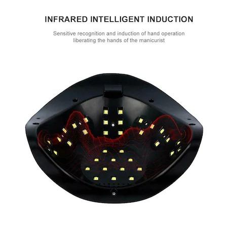 Lampa unghii DUBLA UV LED 120w SUN BQ-5T display, senzor, timer [2]