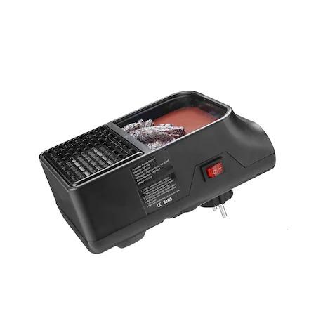 Mini radiator de priza cu telecomanda, Quick & Easy Heat , putere 500 W , ventilator integrat ,Premium Quality , negru [1]
