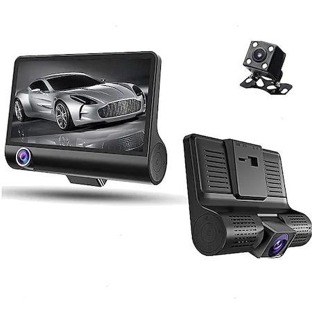 Camera Video Auto Tripla DVR, L300-1, Full-HD, 3 Camere - Fata/Spate/Interior, Ecran 4'', G Senzor, 170 grade [2]