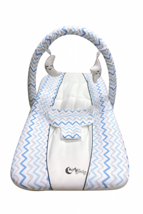 Scaun Balansoar bebeusi Ay Baby Albastru [4]