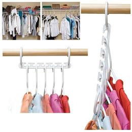Set 8x Umerase Magic organizatoare haine, economisire 50% spatiu, Wonder hanger, alb [1]
