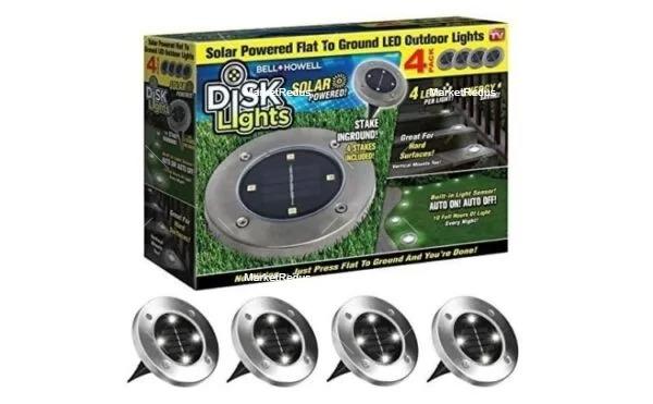 Set de 4 lămpi solare 4LED Disk Lights [0]