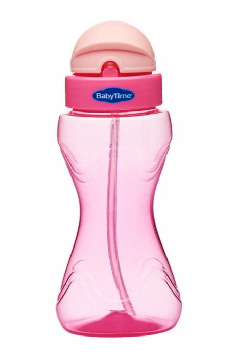 Sticla cu pai BabyTime Pink BT501 [0]