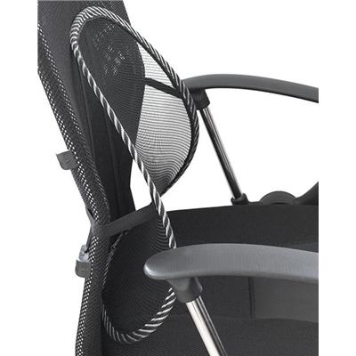 Suport lombar pentru scaun birou/ auto, sau acasa , corector ortopedic cu zona de masaj, 40cm , Negru, corector reglabil, imbunatatire postura [2]