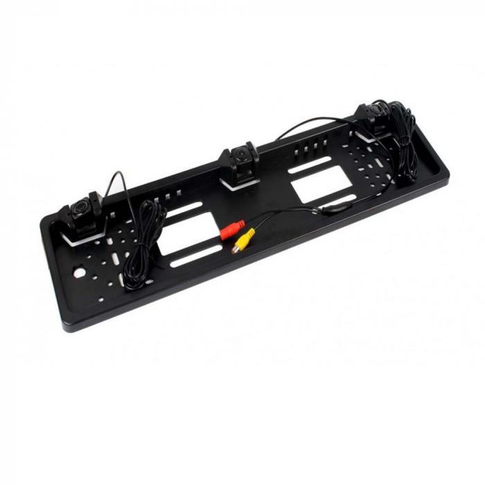 Suport numar auto cu camera si senzori de parcare pentru marsarier [1]