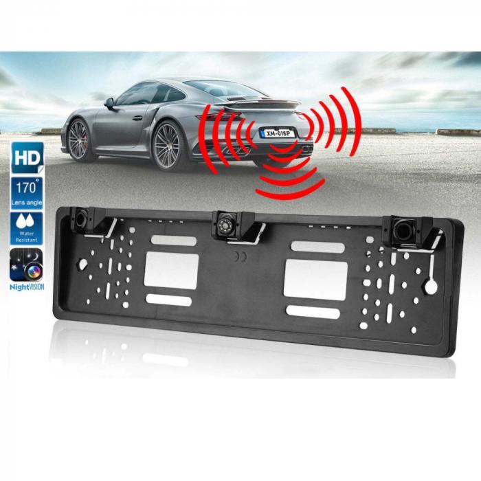Suport numar auto cu camera si senzori de parcare pentru marsarier [0]