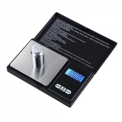 Mini cantar digital gramaj de bijuterii, capacitate 500 g, diviziune 0.01g [0]