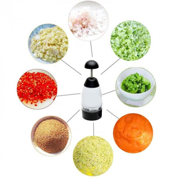 Tocator fructe/legume Slap Chop, alb/Negru [0]