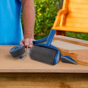 Trafalet Paint Roller Profesional cu umplere + rezervor recipient,brat extensibil [2]