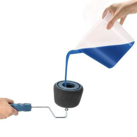 Trafalet Paint Roller Profesional cu umplere + rezervor recipient,brat extensibil [7]