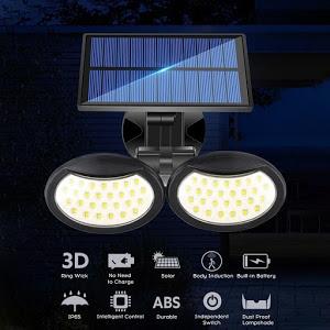 Lampa solara dubla 56 LED cu senzor de miscare [1]