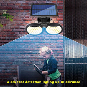 Lampa solara dubla 56 LED cu senzor de miscare [4]