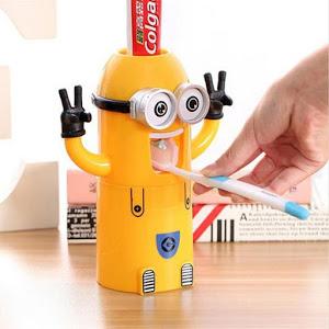 Dozator pasta de dinti cu suport pentru 2 periute, model Minions [1]