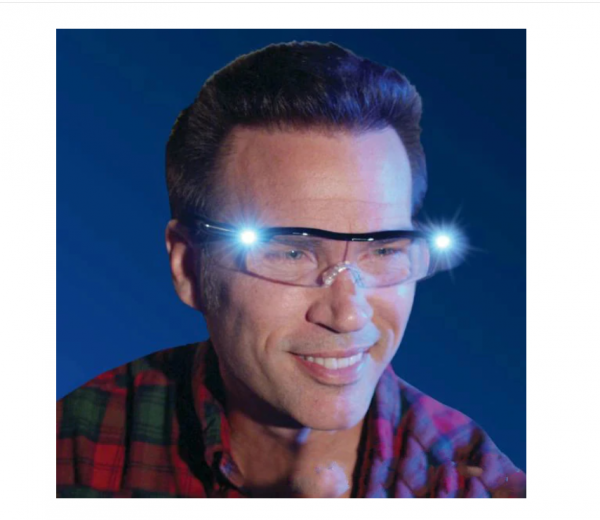 Ochelari cu lupa si LED Mighty Sight, marire 160%, reincarcabili, unisex [1]