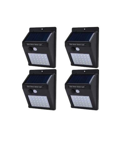 Set format din 4 lampi solare de perete cu senzor de miscare si lumina cu 30 leduri [1]