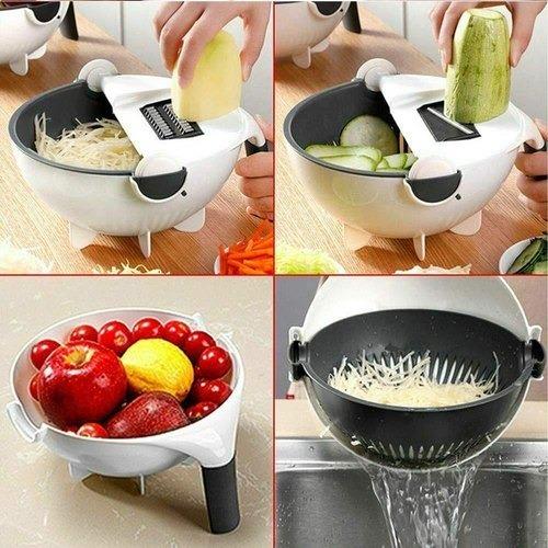 Feliator de legume cu strecurator, Vet Basket Vegetable Cutter [3]
