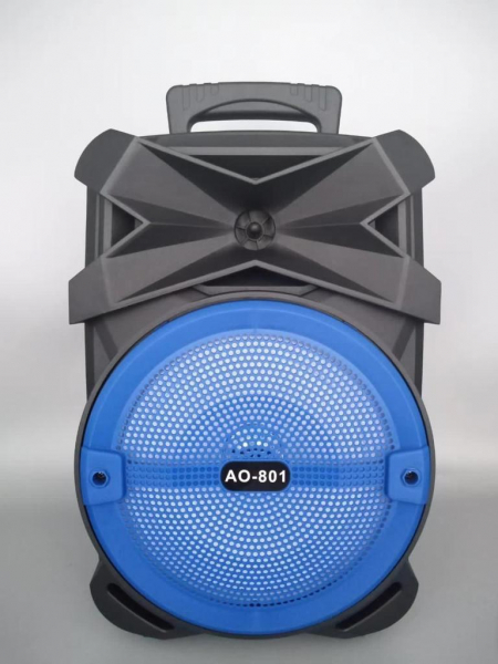 Boxa Activa Portabila 150 W , 8 Inch USB, Radio, Bluetooth,Telecomandă,Albastru [0]