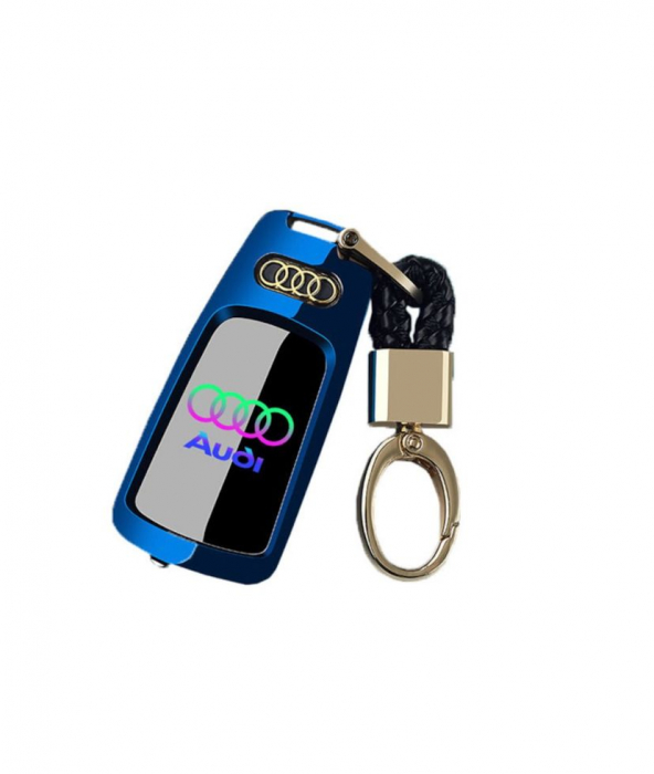 Bricheta electrica aspect tip AUDI , antivant, reincarcabila USB, metalica [3]