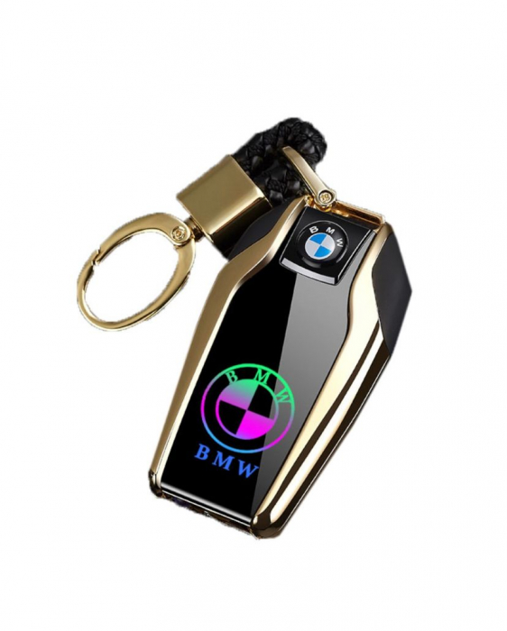 Bricheta electrica aspect tip BMW , antivant, reincarcabila USB, metalica [4]