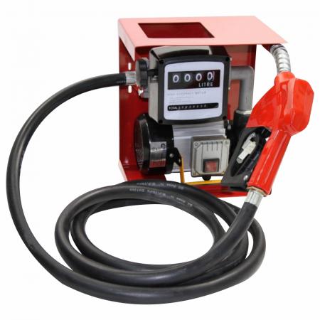 Pompa electrica de transfer combustibil cu contor si furtun, kit complet alimentare 12V [0]