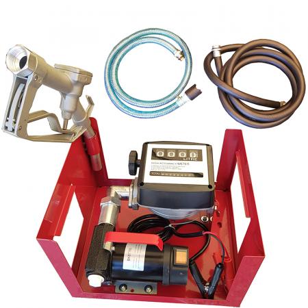Pompa electrica de transfer combustibil cu contor si furtun, kit complet alimentare 12V [1]