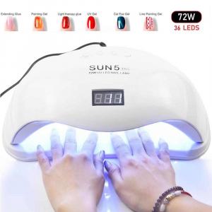 Lampa UV si LED dubla, Model SUN X Plus Cu Afisaj, Putere 72 Watt, Activare Prin Senzori [1]