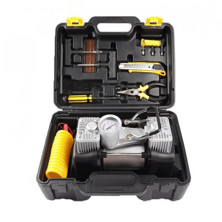 Kit pentru pana auto cu compresor si accesorii de reparat anvelopa [0]