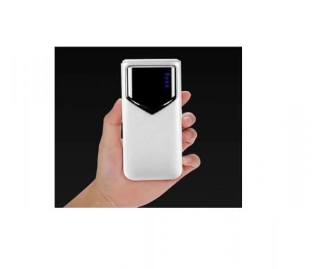 Baterie externa 12000mAh Baterie portabila cu 2 USB LED Powerbank Fast Charger Alb [0]