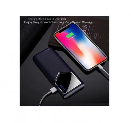 Baterie externa 12000mAh Baterie portabila cu 2 USB LED Powerbank Fast Charger Negru [3]