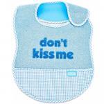 Baveta BabyJem din bumbac Dont Kiss Me Blue [1]