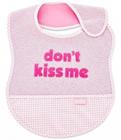 Baveta BabyJem din bumbac Dont Kiss Me Pink [0]