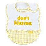 Baveta BabyJem din bumbac Dont Kiss Me Yellow [1]