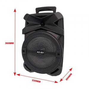 Boxa Activa Portabila 150 W , 8 Inch USB, Radio, Bluetooth,Telecomandă,Orange [1]