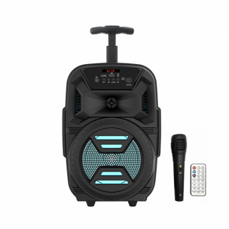 Boxa portabila troler ZQS 6111, 30W P.M.P.O., telecomanda, microfon [0]