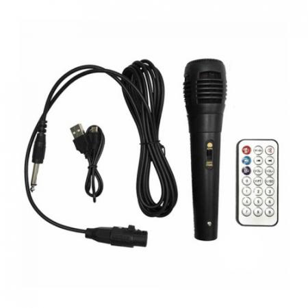 Boxa portabila troler ZQS 6111, 30W P.M.P.O., telecomanda, microfon [3]